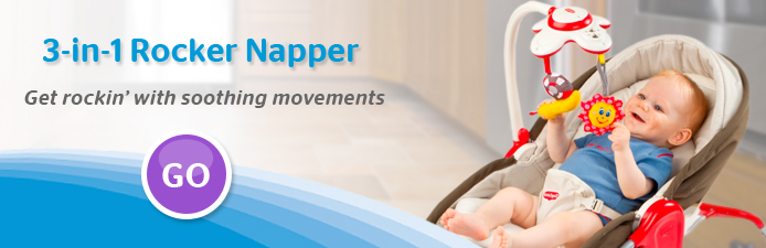 3 in 1 Rocker Napper Baby Bouncer