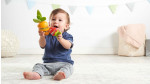 Carrot Rainstick & Strawberry Rattle Baby Toys