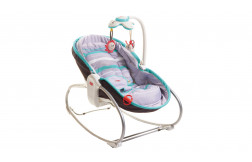 3-in-1 Rocker Napper - Grey-Turquoise