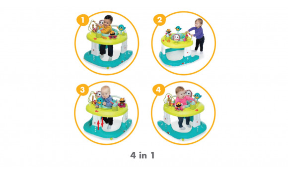 4 In 1 Here I Grow Baby Activity Center And Walker