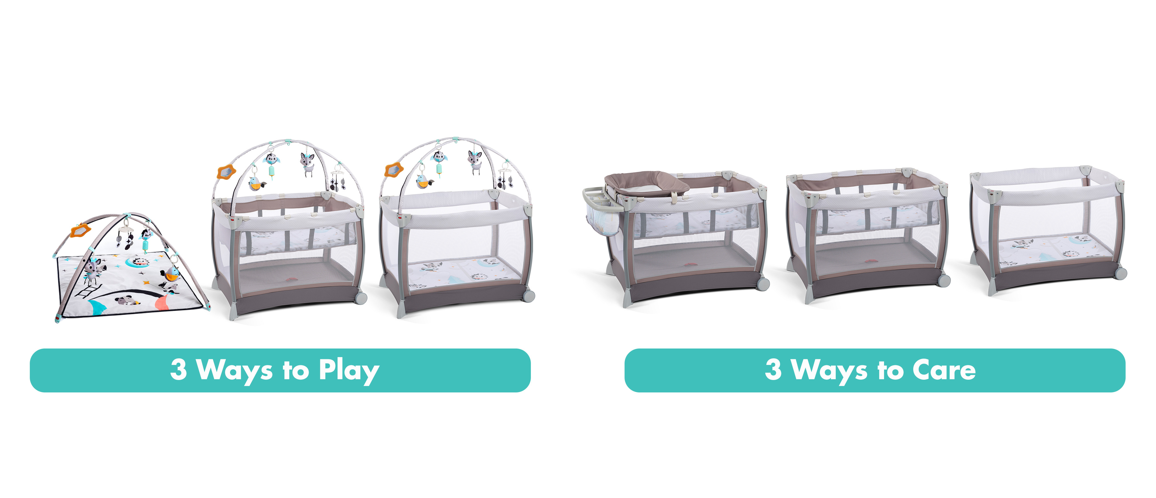 Six modes of use keep baby safe and cared for as she grows