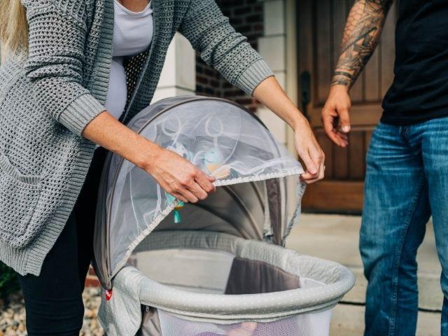 Bug net ensures baby's sleep is peaceful and undisturbed