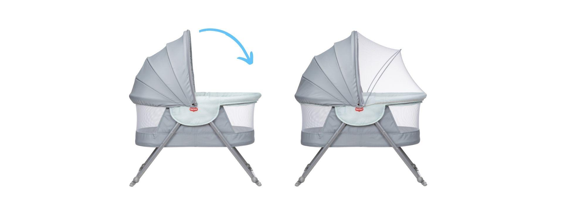 Bug net ensures baby's sleep is undisturbed