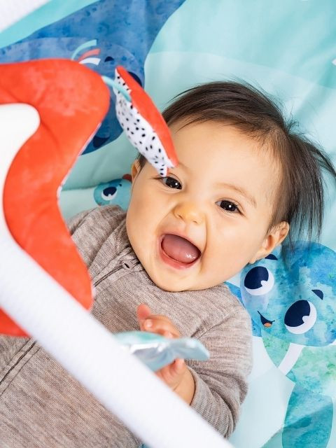 Characters' large eyes engage babies and foster emotional development