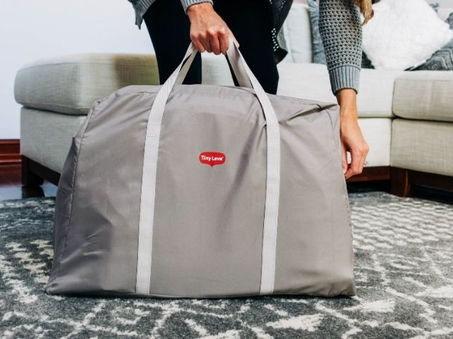 Easily folds for on the go and storage