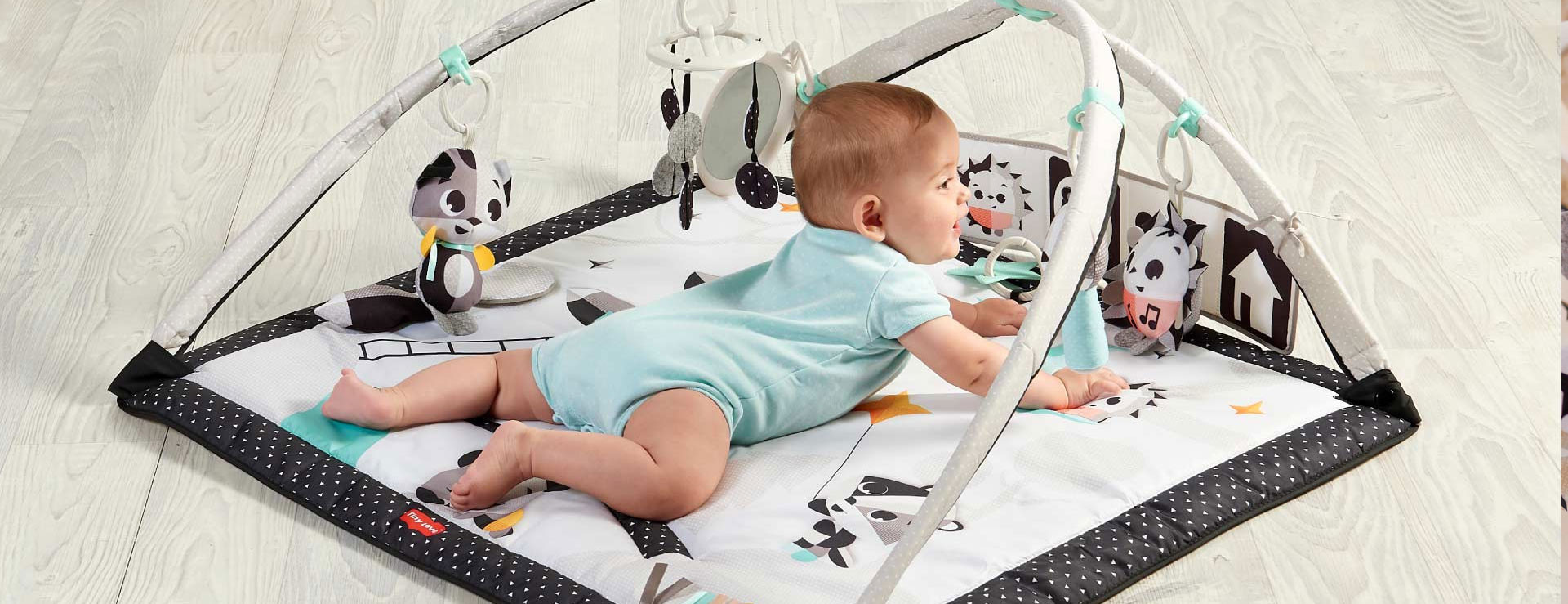 Open arches mode offers more space for tummy time