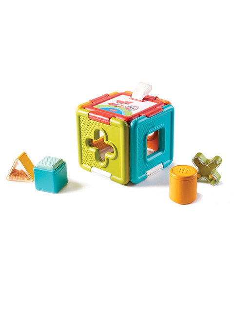 Versatile toy includes seven engaging features and amusing sounds