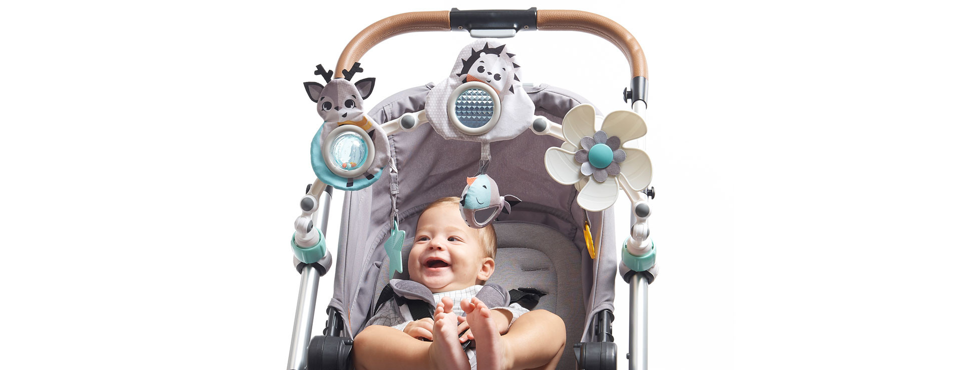 Switch the arch from bassinet to stroller from age 5 months and up