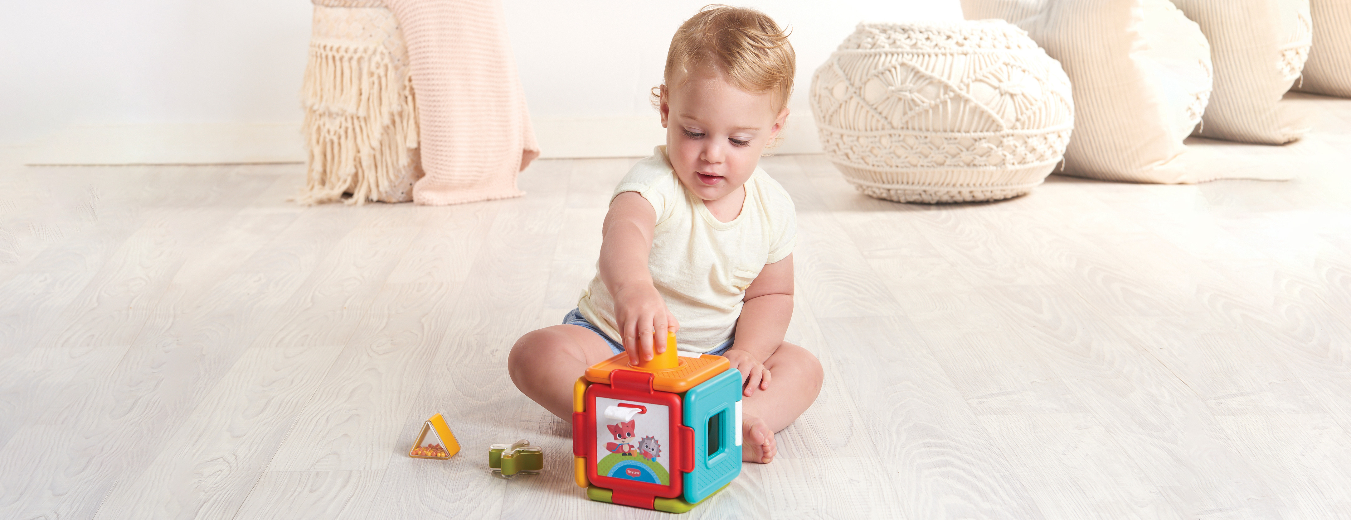 2-in-1 Sorter & Puzzle Introduces baby  to fun playtime and appeals to multiple senses