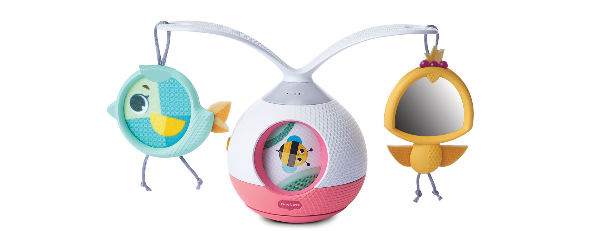 Toy with Music and Lights 0M + Princess Tales Tiny Love Tummy Time Mobile Entertainer