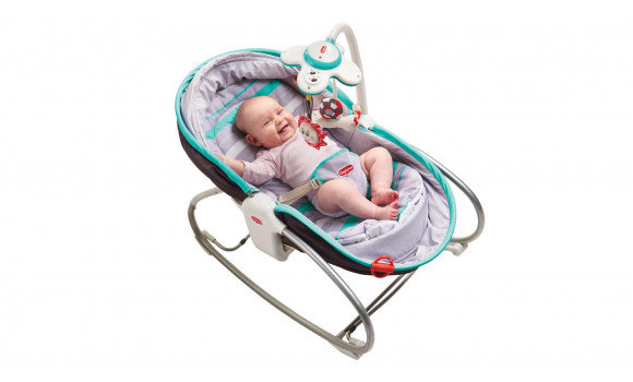 3-in-1 Rocker Napper Baby Bouncer - Turquoise