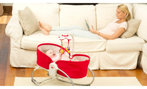 3-in-1 Rocker Napper - RED