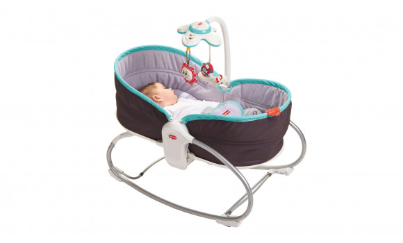 3-in-1 Rocker Napper Baby Bouncer - Turquoise