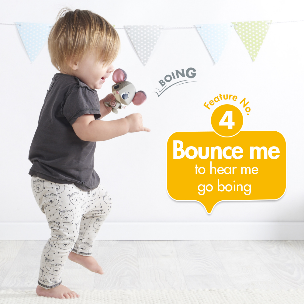 Feature No 4. bounce me and hear go boing