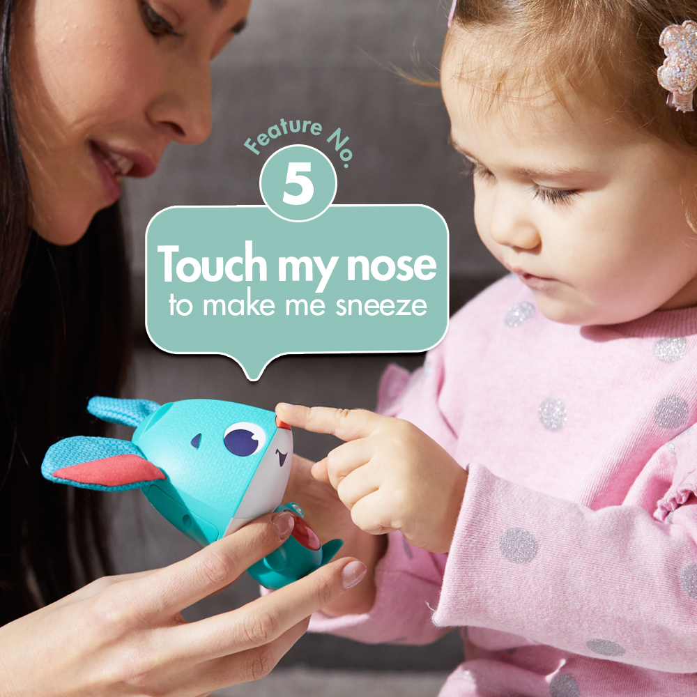 Feature No 5. touch my nose to make me sneeze